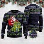 Christmas Santa Dinosaur Triceratops Funny Ugly Christmas Sweater Adult For Men & Women