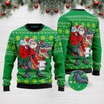Santa Tree Rex 2020 Merry Christmas Funny Ugly Christmas Sweater Adult For Men & Women
