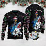 Shark Dachshund Christmas Funny Ugly Christmas Sweater Adult For Men & Women