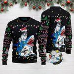 Shark French Bulldog Christmas Funny Ugly Christmas Sweater Adult For Men & Women