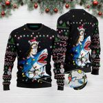 Shark Tricolor Corgi Christmas Funny Ugly Christmas Sweater Adult For Men & Women