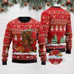 Bigfoot English Bulldog Merry Christmas Funny Ugly Christmas Sweater Adult For Men & Women (2)
