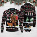 Bigfoot English Bulldog Merry Christmas Funny Ugly Christmas Sweater Adult For Men & Women