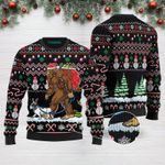 Bigfoot French Bulldog Merry Christmas Funny Ugly Christmas Sweater Adult For Men & Women