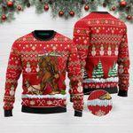 Bigfoot Pug Merry Christmas Funny Ugly Christmas Sweater Adult For Men & Women