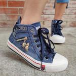 Women's Casual Denim High-top Canvas Shoes