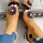 Women Casual Floral Wedge Sandals
