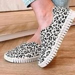 Women Shallow Orthotic Comfortable Leopard Shoes