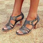 2020 New Style Elegant Buckle Strap Heels