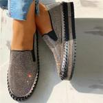 Women's Casual Fashion Rhinestone Slip-on Shoes