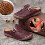 Women Hollow Out Breathable Slip On Daily Sandals