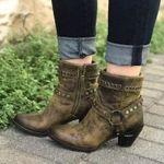 Women's Street Style Retro Studded Martin Boots