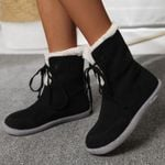Women's Flat-bottom Lace-up Warm Comfortable Boots
