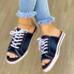 Women's One Pedal Canvas Slippers
