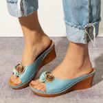 Women Summer Open Toe Comfy Sandals
