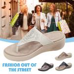 Women Non-slip Flower Printed Flip Flop Sandals