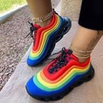 Women's Fashion Lace-Up Breathable Sneakers