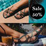 Women's Premium Soft Nylon Straps Flat Sandals