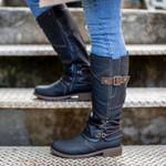 Women's 2020 Autumn & Winter Vintage Leather Zipper High Boots