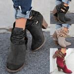 2020 Women's Retro Fashion Round Toe Comfortable Short Boots