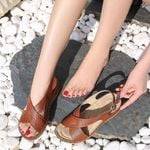 Classic Boho Breathable Buckles Wedges Sandals