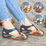 Round ladies leisure and comfortable outdoor slippers