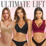Clare Ultimate Lift Stretch Full-Figure Seamless Lace Flory Bra