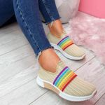 Women's Breathable Colorful Mesh Walking Shoes