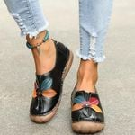 Retro Flowers Comfortable Slip-on Loafers