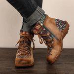2021 New Women's Zipper Bohemian Style Ankle Boots