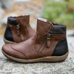 Women Zipper Waterproof Ankle-Support Boots