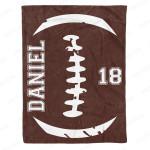 Football Fleece Blanket- Personalized Blanket