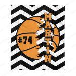 Personalized Basketball Fleece Blanket