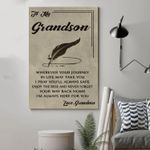 (Cv776) Qh Family Canvas - Grandma To Grandson - Wherever Your Journey