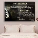 (Cv539) American Football Canvas - Grandson Grandma- Never Lose Lda