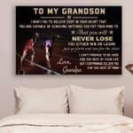 (Cv801) Lhđ Athletics Canvas - Grandpa To Grandson - Never Lose