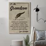(Cv780) Qh Family Canvas - Grandpa To Grandson - Wherever Your Journey