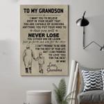 (D283) Family Canvas - Grandma To Grandson - Never Lose