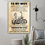 (L192) Biker Canvas - To My Wife - You Are Braver