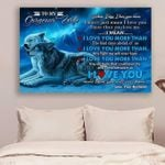 (Ll30) Wolf Canvas - Husband To Wife - I Love You
