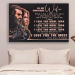 (Ll55) Biker Canvas - Husband To Wife - I Love You More Than