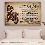 (Ll57) Customizable Biker Canvas - Husband To Wife- I Love You