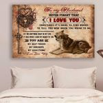 (Ll76) Customizable Wolf Canvas - Wife To Husband - You Are My Best Friend