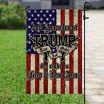 2Nd Amendment Guns Flag Right To Bear Arms Trump 2021 Law & Order Flag - Garden Flag House Flag