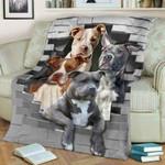 3D Pitbull Lovers - Sherpa Blanket