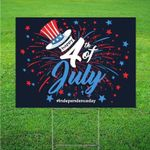 4Th Of July Outdoor Decor | Yard Sign With Stakes |