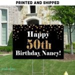 50Th Birthday Yard Sign Personalized Adult Birthday Lawn Sign Yard Decorations Birthday Yard Signs Stakes Included Milestone 40Th 60Th- Yard Sign