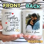 A Life We Loved – Personalized Custom Photo Coffee Mug – Valetine'S Day Gifts - Valentine Gift For Wife, Girlfriend, Husband, Valentine Gift For Couple