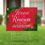 A. Jesus Is The Reason For The Season Yard Sign Jesus Yard Sign Merry Christmas Yard Sign Xmas In/Out Door Yard Sign