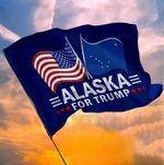 Alaska For Trump Garden Flag, House Flag